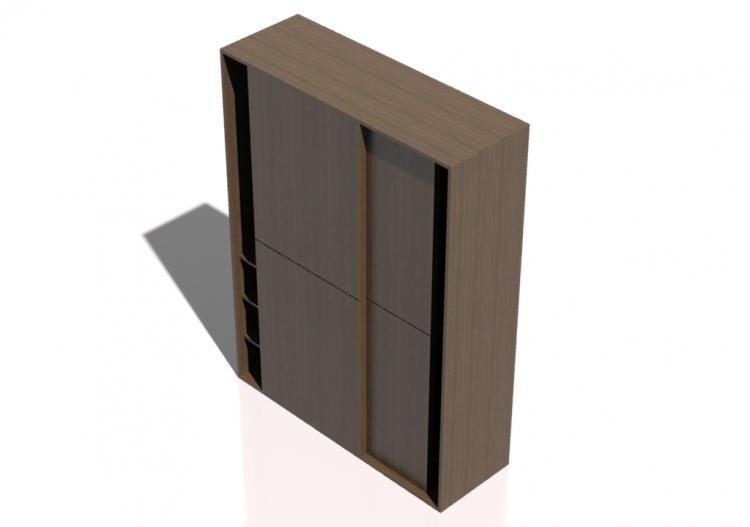 and Cabinets 3D - Armadio 2 ante scorr. MONDO...