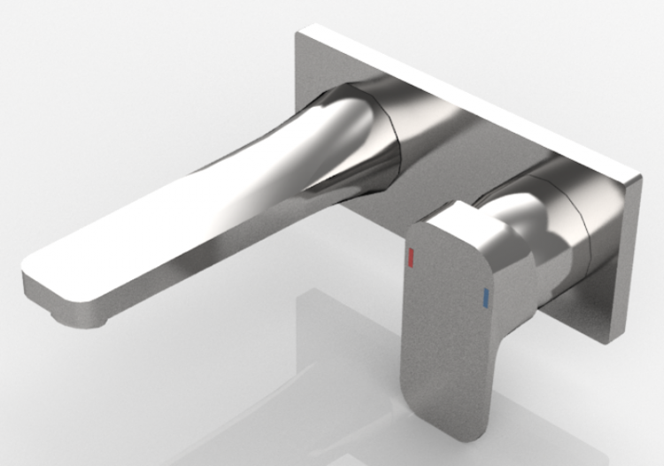 3D Taps - Wall-mounted mixer for washbasins - Ideal...