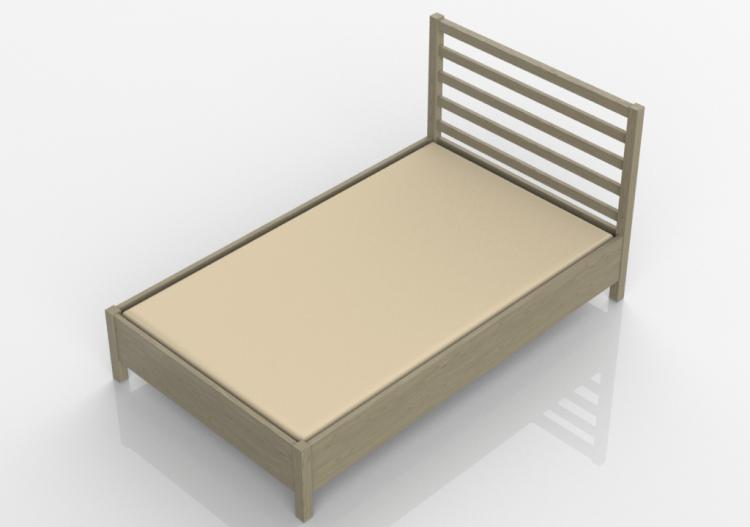 Cama madera planos cama estilo japn somier madera cama for Cama nido escritorio incorporado