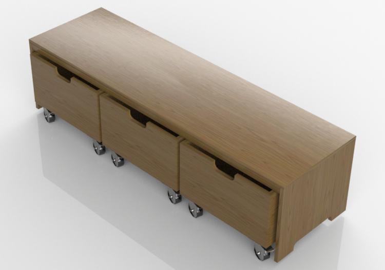 3d b cherregal und beh lter bank mit schubladen lekolar. Black Bedroom Furniture Sets. Home Design Ideas