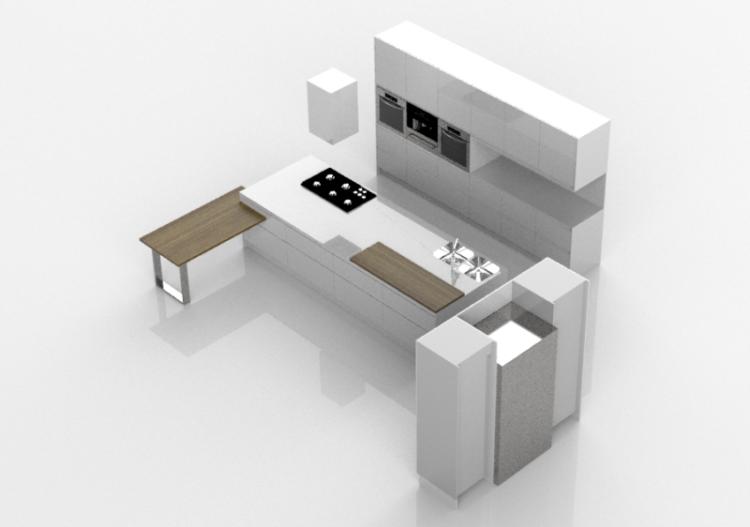 Cucine 3d cucina completa di elettrodomestici witt - Software cucine 3d ...