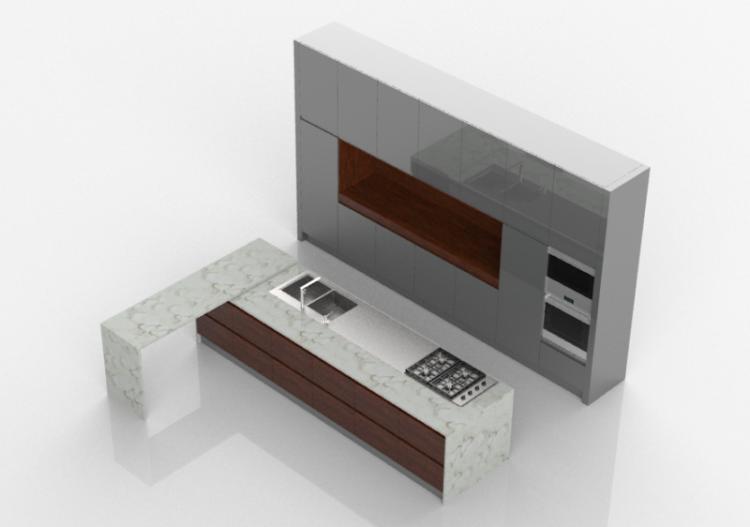 3D - Cucina completa di elettrodomestici - Witt -...