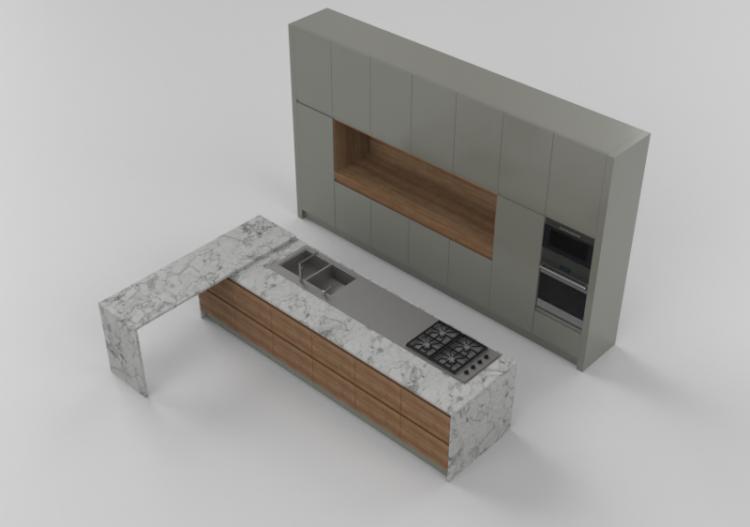 Cucine 3D - Cucina completa di elettrodomestici - Witt -...