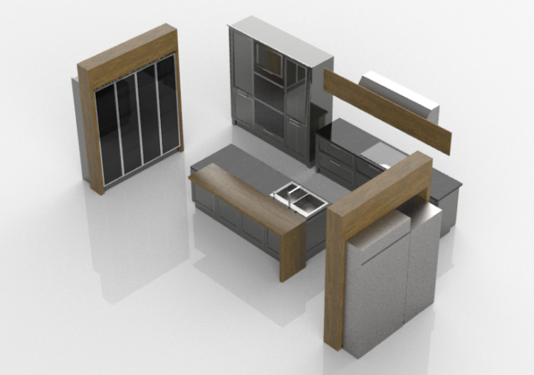 Cocinas 3d cocina completa con electrodom sticos witt - Cocinas completas con electrodomesticos ...
