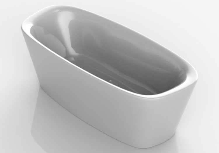 Vasche da bagno 3d vasca da bagno ideal standard dea - Vasche da bagno ideal standard ...