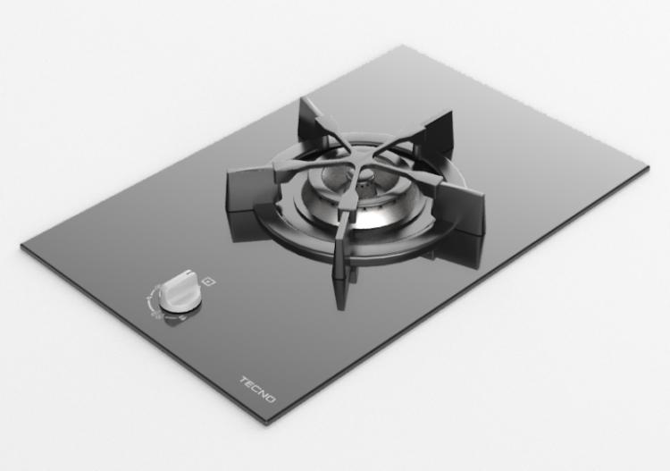 Elettrodomestici 3D - Piano cottura a gas da incasso con...