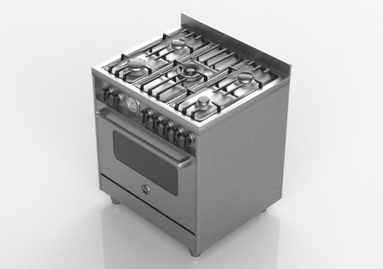 Elettrodomestici 3d cucina a gas 5 fuochi con forno a gas - Elettrodomestici cucina a gas ...