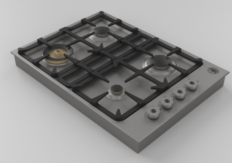 3d Electrical Appliances Built In Cooking Hob With 4