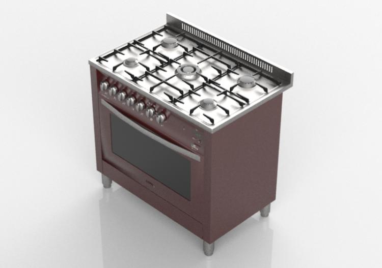 Elettrodomestici 3d cucina a gas 5 fuochi con forno - Elettrodomestici cucina a gas ...