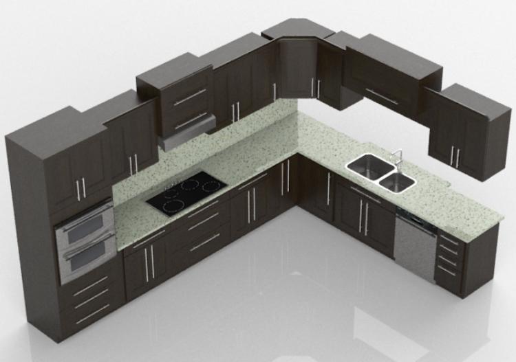 Cocinas 3d cocina completa con electrodom sticos panda for Cocinas completas con electrodomesticos