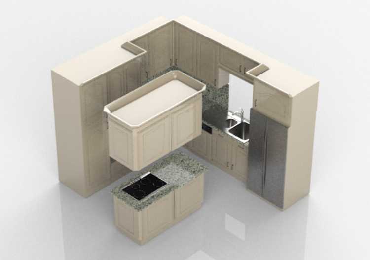 3D - Cucina completa di elettrodomestici - Panda -...