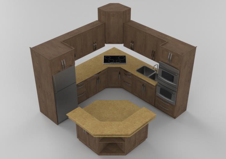Cucine 3d Cucina Completa Di Elettrodomestici Panda