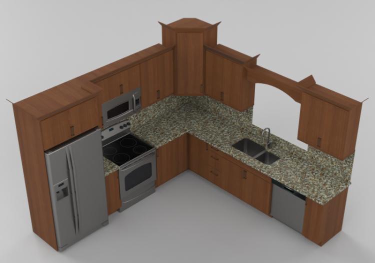 Cucine 3D - Cucina completa di elettrodomestici - Panda -...