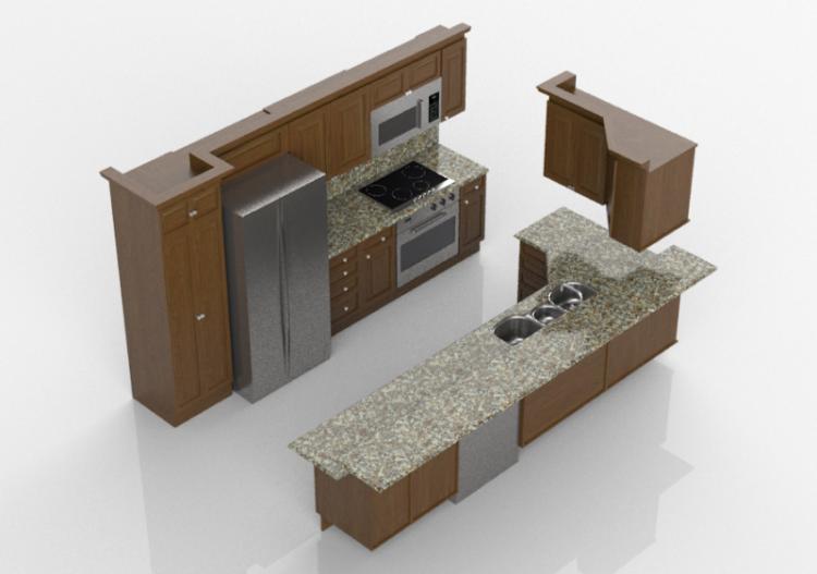 Cocinas 3d cocina completa con electrodom sticos panda - Cocinas completas con electrodomesticos ...