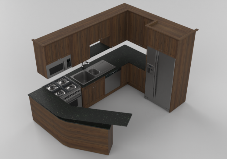 3D Kitchens - Kitchen complete with