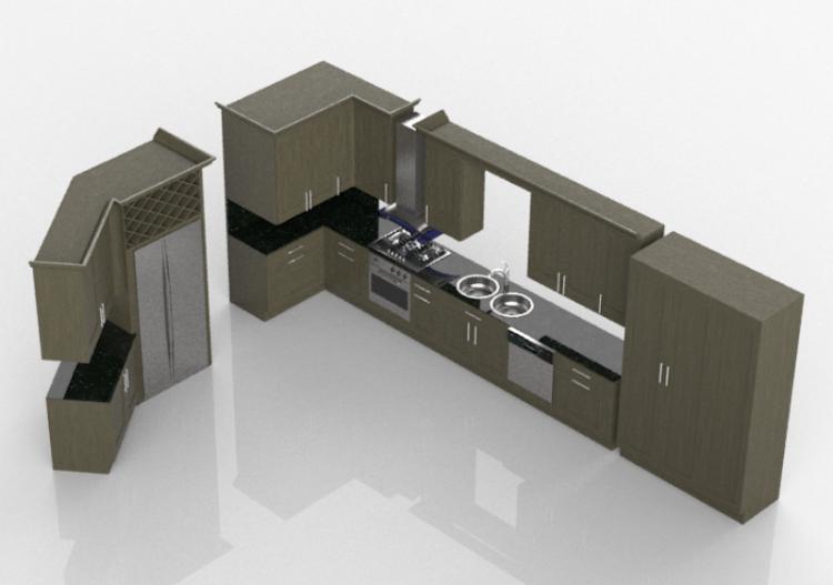 Cucine 3d cucina completa di elettrodomestici panda - Software cucine 3d ...