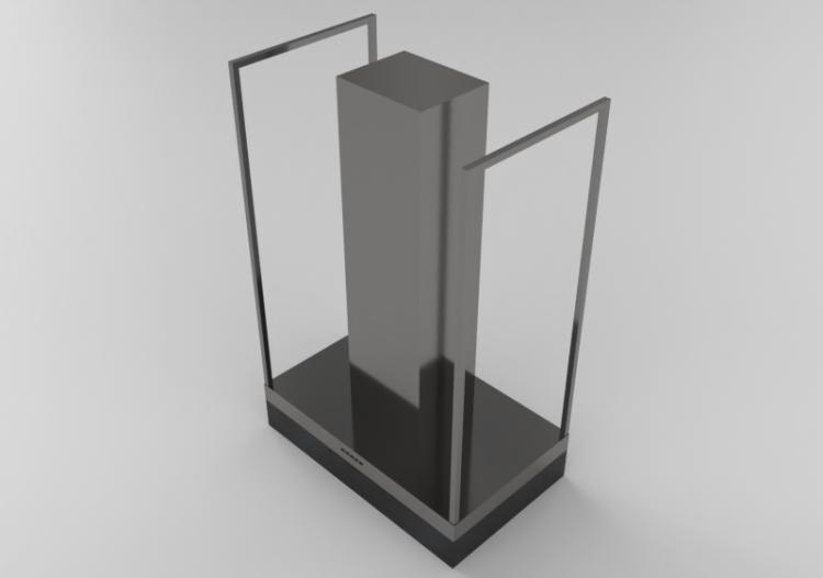 Elettrodomestici 3D - Cappa a isola in acciaio inox –...