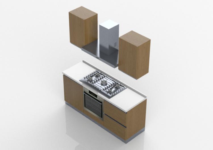 Cucine 3d cocina linear 180x216cm acca software - Software cucine 3d ...