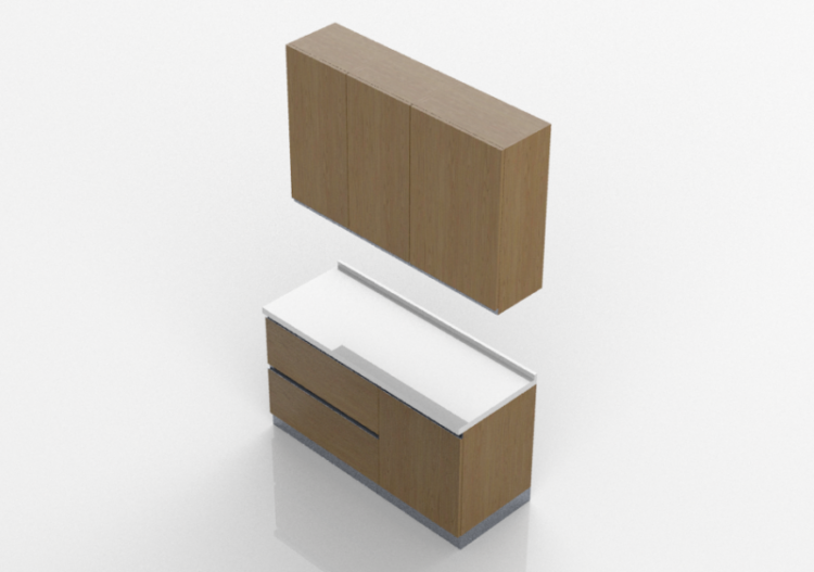 Cucine 3d bloque linear 150x240cm acca software - Software cucine 3d ...