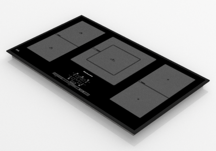Elettrodomestici 3D - Piano cottura a induzione 5 zone -...