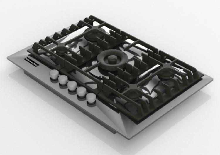 3D Haushaltgeräte - Piano cottura a gas 5 fuochi -...
