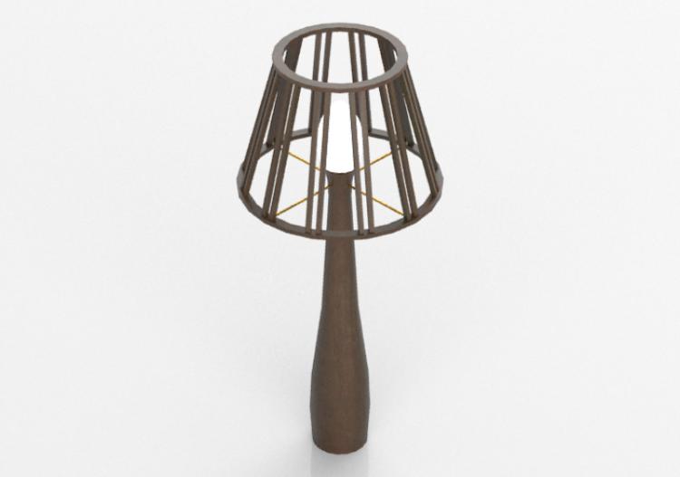 Lampada da terra 3d lampada in legno schuster moscou