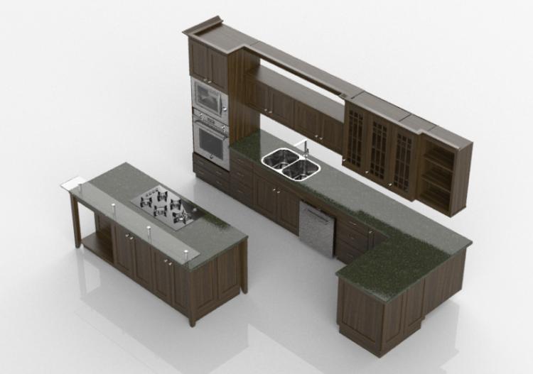 Cucine 3d cucina completa di elettrodomestici merrillat - Software cucine 3d ...
