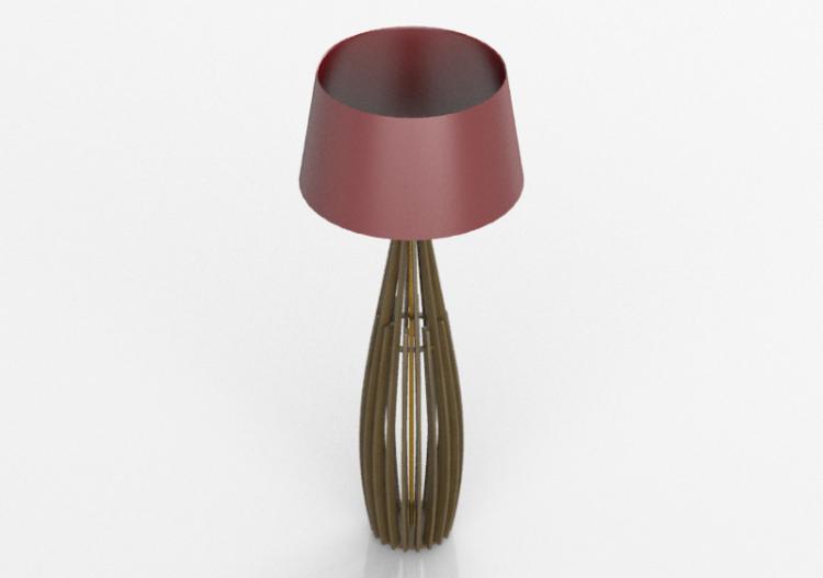 Lampada da terra 3d lampada in legno schuster