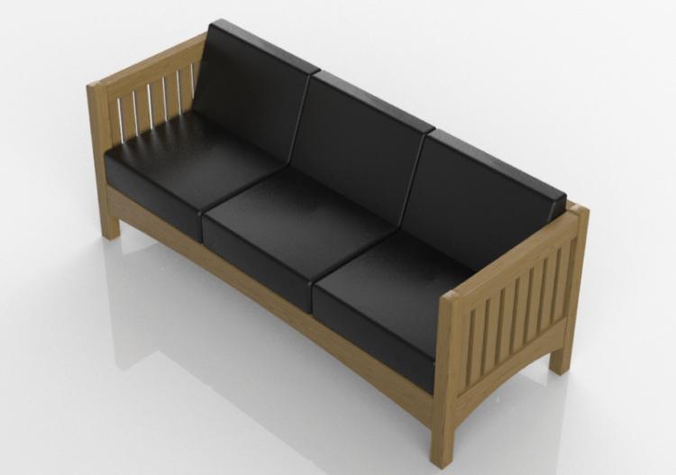 Divani 3D - Sofà in legno massello - Thos. Moser - ACCA...
