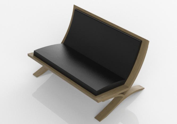 Divani 3D - Panca in legno massello - Thos. Moser - Vita -...