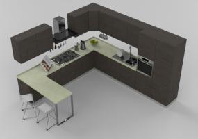 Modelli 3d arredo cucina acca software for Accessori per cucina moderna
