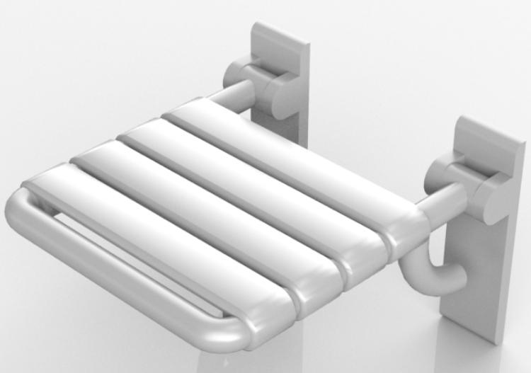 Sedile Per Doccia : Accessori 3d sedile ribaltabile per doccia hewi