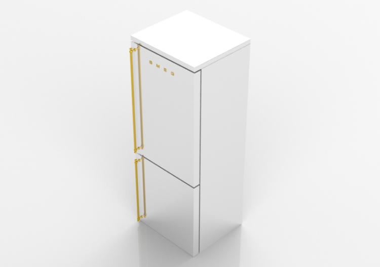 Elettrodomestici 3D - Frigorifero combinato coloniale -...