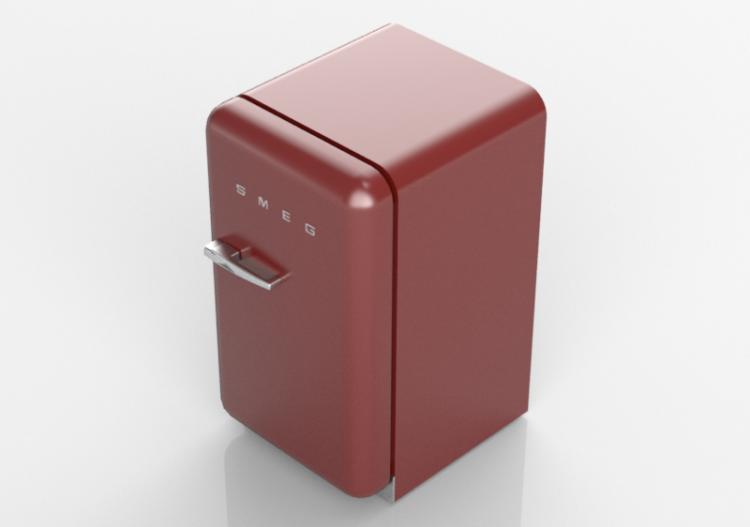 Smeg Kühlschrank Rot : D haushaltgeräte kühlschrank happy bar er jahre rot