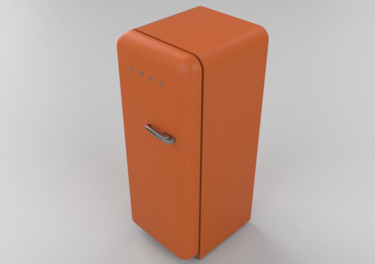 Elettrodomestici 3D - Frigorifero monoporta anni \'50,...