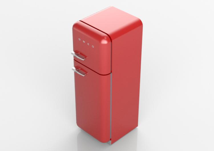 Smeg Kühlschrank Pastelgrün : D haushaltgeräte kühlschrank zwei türen er jahre rot