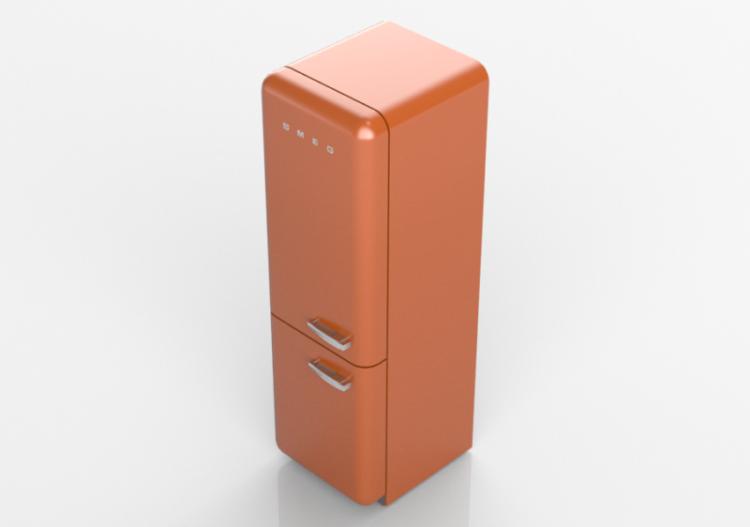 Elettrodomestici 3D - Frigorifero combinato anni \'50,...