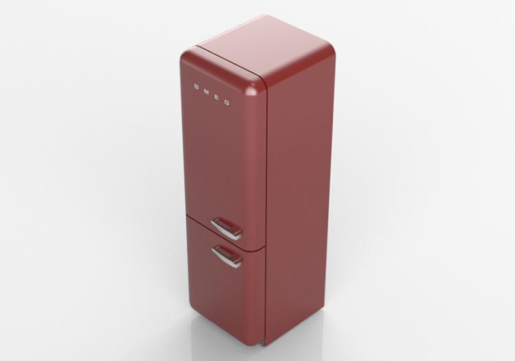 Smeg Kühlschrank Grün : 3d haushaltgeräte kombinierter kühlschrank 50er jahre