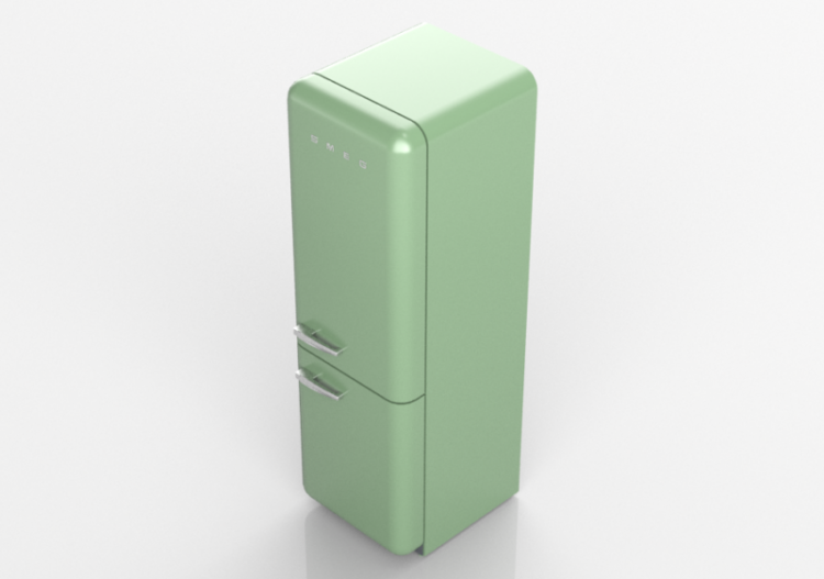 Smeg Kühlschrank Pastellgrün : 3d haushaltgeräte kombinierter kühlschrank 50er jahre