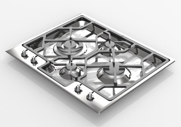 Elettrodomestici 3D - Piano cottura a gas con 4 fuochi -...