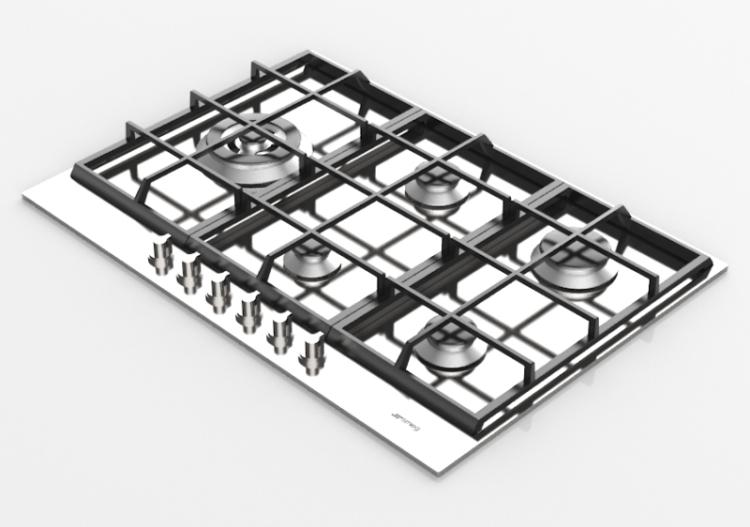 Elettrodomestici 3D - Piano cottura a gas con 5 fuochi -...