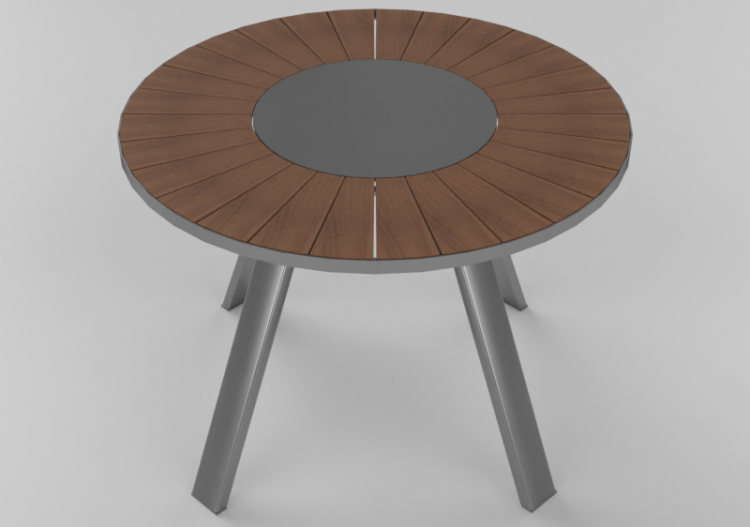 Tavoli 3D - Tavolo da esterno circolare - Extremis - ACCA...