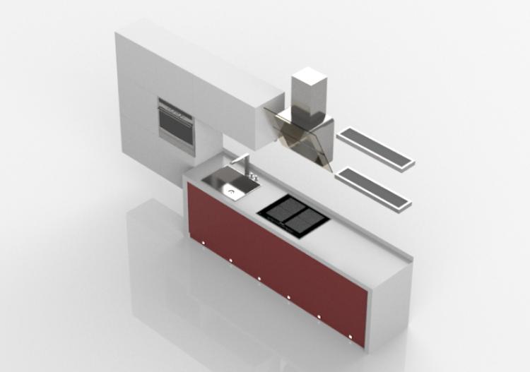 Cucine 3D - Cucina completa di elettrodomestici - ACCA...