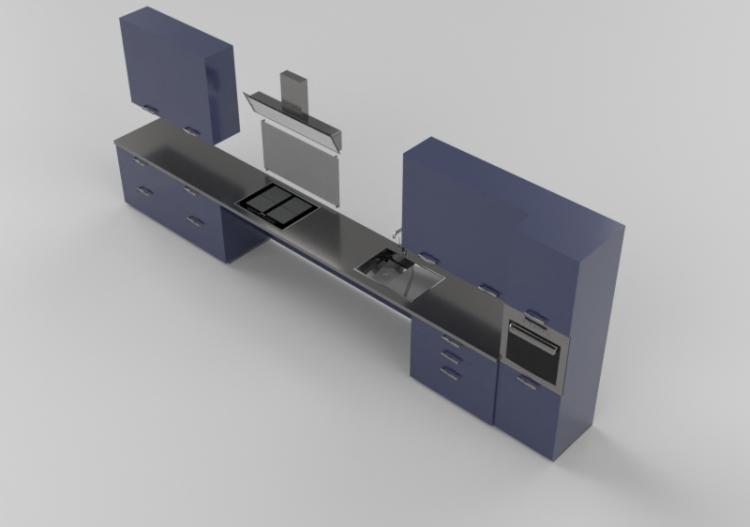 Cucine 3D - Cucina per disabili completa di...