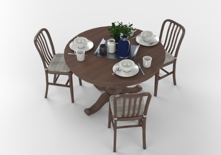 3d Tables Kitchen Table With Chairs And Breakfast Acca