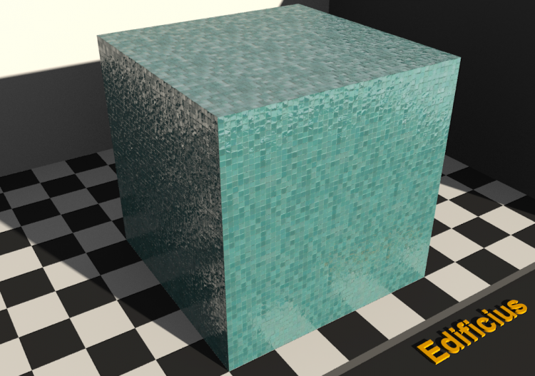 Mosaic Texture - Teal - ACCA software