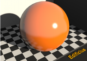 Texture émail - Orange pastel