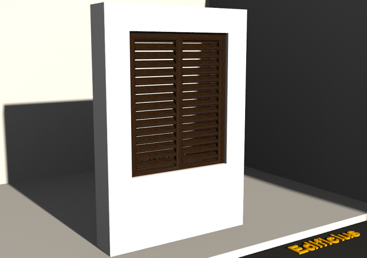 3D Tür/Fenster - Fensterladen FN [R] 2DF - ACCA software