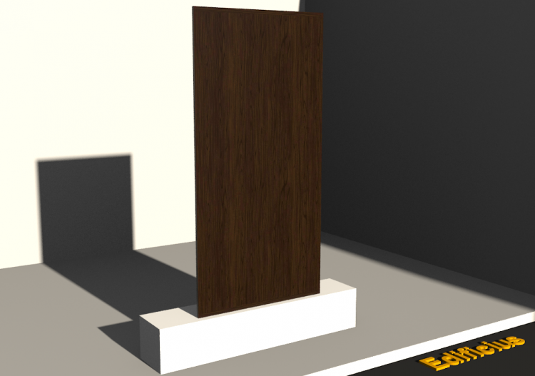 3D Panel - Panel [R] Walnut - ACCA software