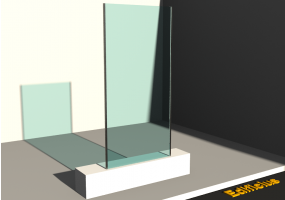 3D Panels - Panel [R] Yellow with partial frame